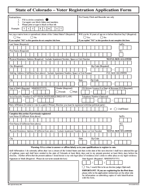 colorado voter registration application form