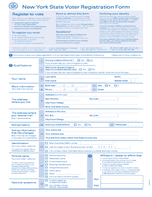 Bill Of Sale Form New York State Voter Registration Form Templates ...