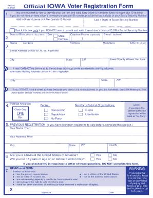 Voters Registration Form - Fill Online, Printable, Fillable, Blank ...
