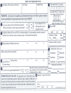 Fillable Online minidoka id Idaho Voter Registration Form ...