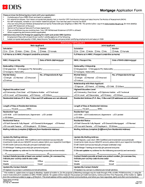 mortgage application form How To Fill Dbs Mortgage Application Form - Fill Online, Printable ...