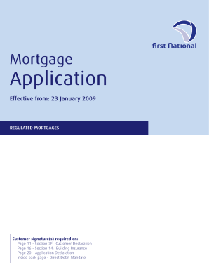 Pdf Generic Mortgage Application Form  Blank Mortgage Form