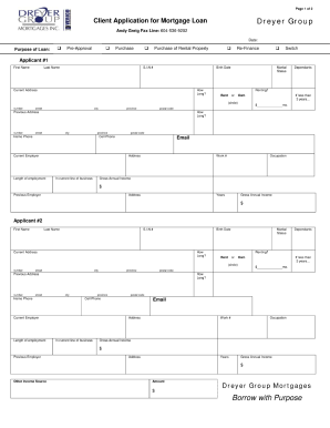 Amazing Mortgage Application Form To Blank Mortgage Form