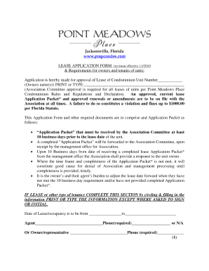 Florida lease form fillable