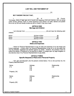 Bill Of Sale Form Arkansas Last Will And Testament Form Templates ...