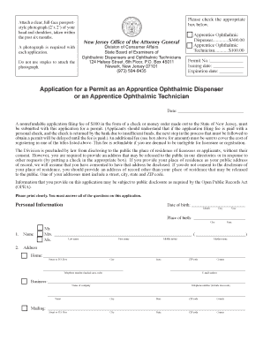 nj state application to be preceptor