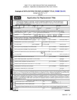 Fillable Application For Replacement Title Oregon - Fill Online ...