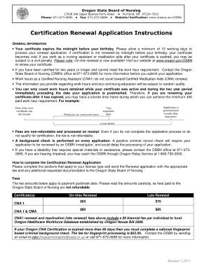 Osbn Cna Renewal - Fill Online, Printable, Fillable, Blank | PDFfiller
