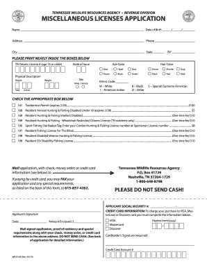 2010 form tn wr 0142 fill online printable fillable for Lifetime fishing license tn
