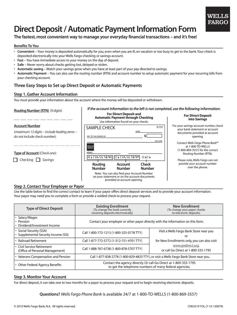 deposit form wells fargo  13 Form Wells Fargo CNS13 FOL Fill Online, Printable ...