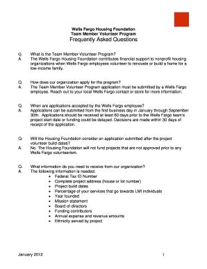 Fillable Online Wells Fargo Housing Foundation - TMVP FAQ
