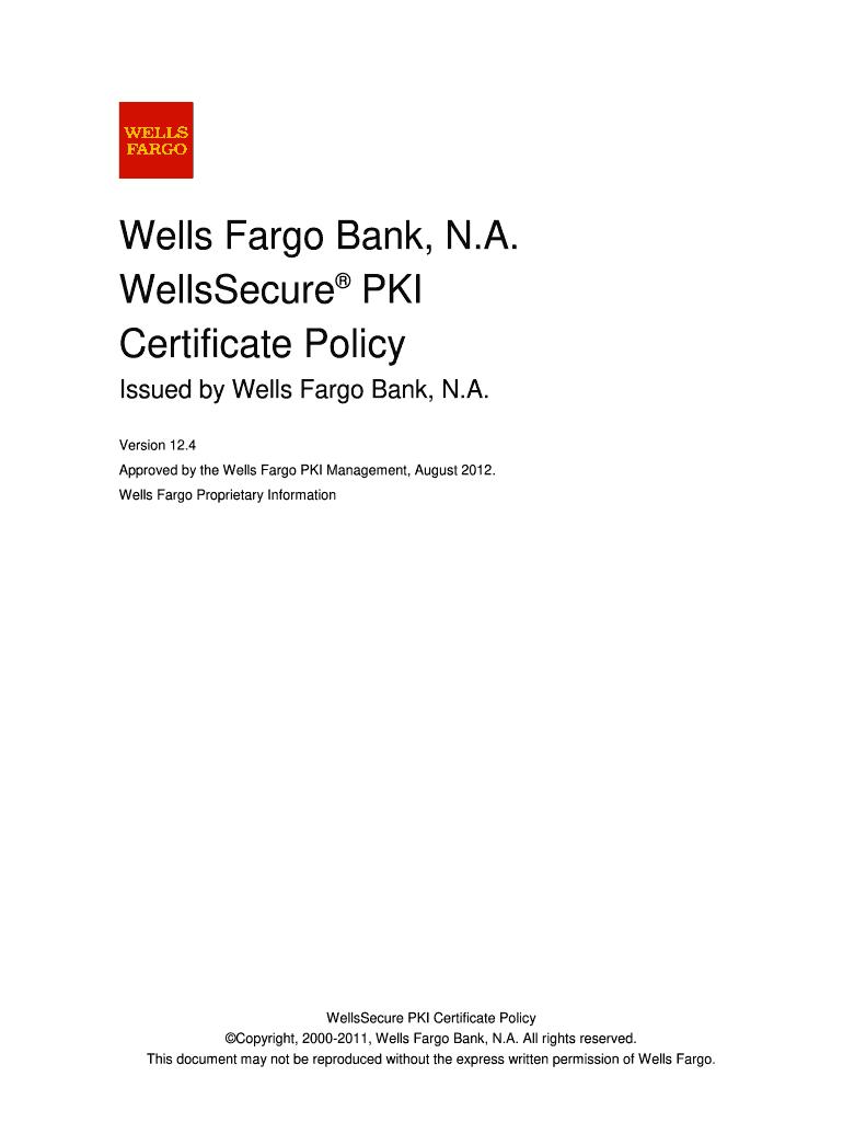 Wells Fargo Letter Head - Fill Online, Printable, Fillable, Blank