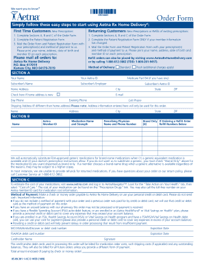 Aetna Medco Mail Order Form - Fill Online, Printable, Fillable ...
