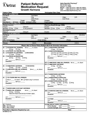 Aetna Referral Form Fill Online Printable Fillable Blank