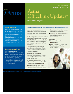 Aetna Corrected Claim Form - Fill Online, Printable, Fillable ...
