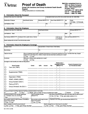 Death Certificate Word Format - Fill Online, Printable ...
