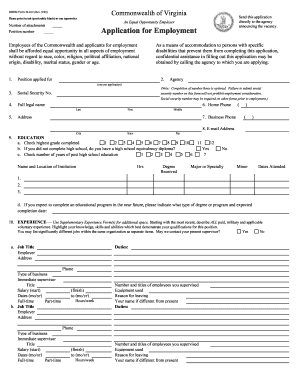 virginia application employment 2003-2017  form