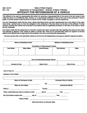 Repo Order Fill Online Printable Fillable Blank