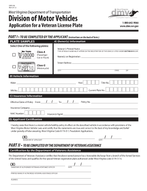 Fillable online transportation wv division of motor for Department of motor vehicle forms
