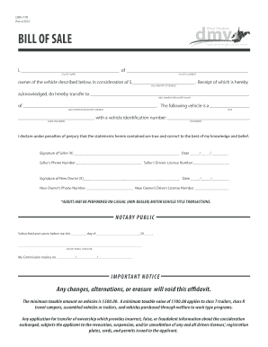 bill of sale virginia Virginia Motor Vehicle Bill Of Sale Form Templates - Fillable ...