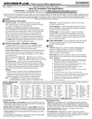 picture relating to Wisconsin Dmv Mv3001 Printable identified as US Wisconsin RMV Kinds - Editable, Fillable Printable