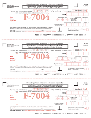florida extension form f 7004