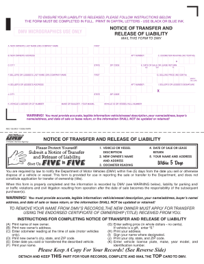 Release Of Liability Form Ca >> 2012-2020 Form CA DMV REG 138 Fill Online, Printable, Fillable, Blank - pdfFiller