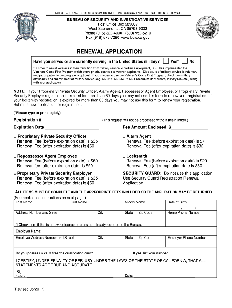 Bsis Renewal - Fill Online, Printable, Fillable, Blank