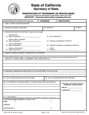 State Of California Secretary Of State Registration Of