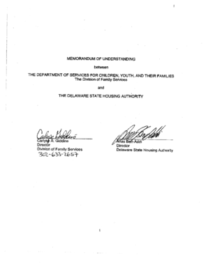 MEMORANDUM OF UNDERSTANDING between - kids delaware