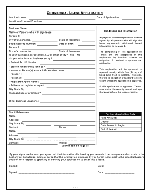 fillable online iowa commercial rental lease application questionnaire fax email print pdffiller