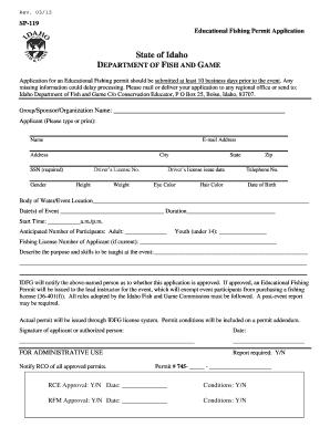 Fillable online fishandgame idaho educational fishing for Idaho fishing license online