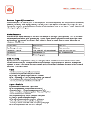 Sample business plan template forms fillable printable samples state farm business proposal form flashek Gallery