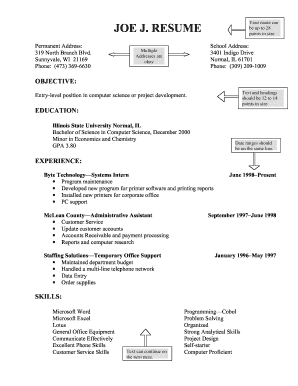 Printable general resume objective examples - Edit, Fill Out