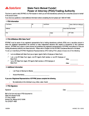 state farm power of attorney form