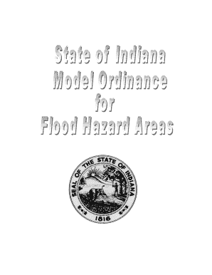 State of Indiana Model Ordinance for Flood Hazard Areas