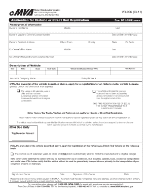 Vr 096 fill online printable fillable blank pdffiller for Maryland motor vehicle bill of sale form
