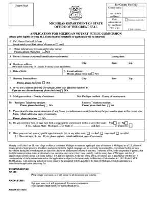 michigan notary form 98a
