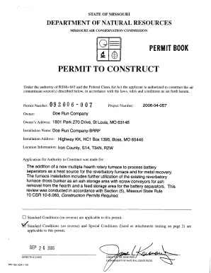 doe run permit form