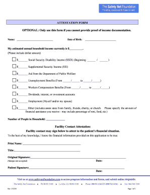 the safety net product adjustment form