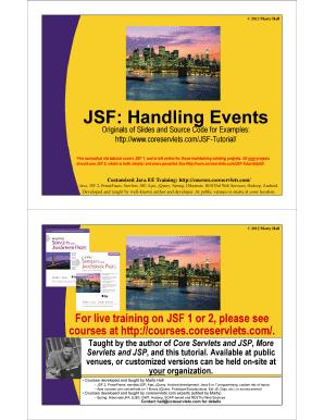 Jsf tutorial pdf free download