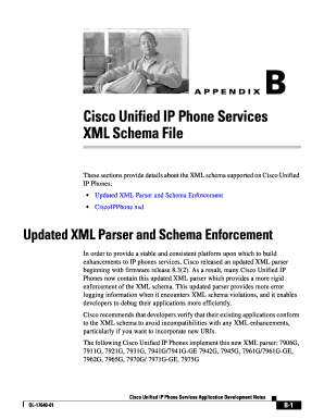 Fillable Online Cisco Unified IP Phone Services XML Schema File Fax