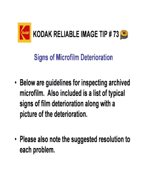 microfilming kodak reliable image tips form