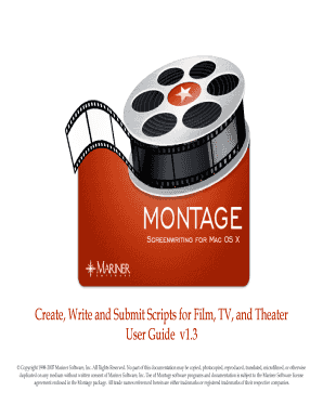 Montage User Guide 110.mwd - Mariner Software