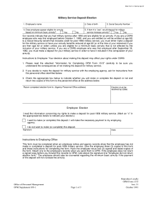 Opm Form 1515 Fillable - Fill Online, Printable, Fillable, Blank ...