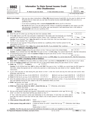 Form 8862 2009 - Fill Online, Printable, Fillable, Blank | PDFfiller