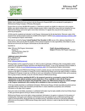 midamerican energy request for proposal form
