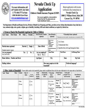 Nevada Check Up - Fill Online, Printable, Fillable, Blank | PDFfiller