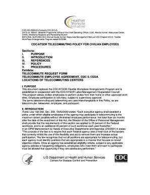 Cdc telework policy fill online printable fillable blank cdc telework policy platinumwayz