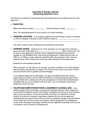 Mobile Device And Teleworking Policy Template Fill Out Online - Telecommuting agreement template